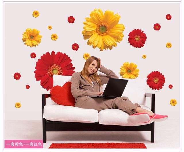 1-Компл-Дэйзи-Цветок-Гостиной-3D-Обои-Виниловые-Наклейки-Окна-декор-Стены-Спальни-Наклейки-Наклейки-На.jpg_640x640