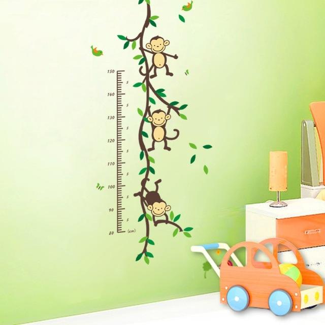 150-см-Мультфильм-дерево-Monky-детей-baby-рост-рост-график-мера-стены-стикеры-для-детская-комната.jpg_640x640