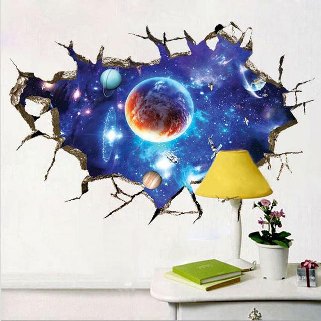 Наклейки для декора «Космическое пространство».