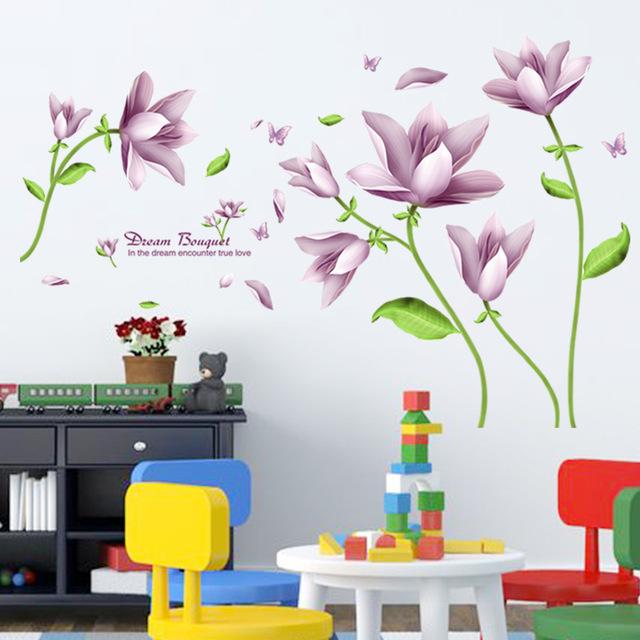 Наклейки цветы на стену «Нежность».