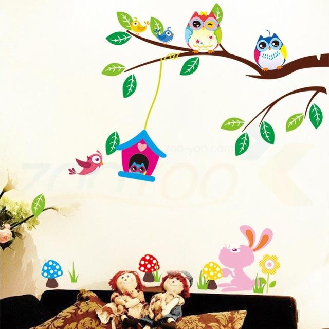 Симпатичные-совы-играя-на-деревья-стены-украшения-дома-для-детей-номеров-ZooYoo1017-съемный-пвх-наклейки-на.jpg_640x640